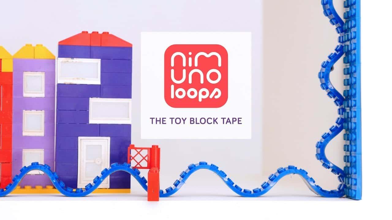 子供の創造力を無限大に。どこでもレゴが貼れるテープ