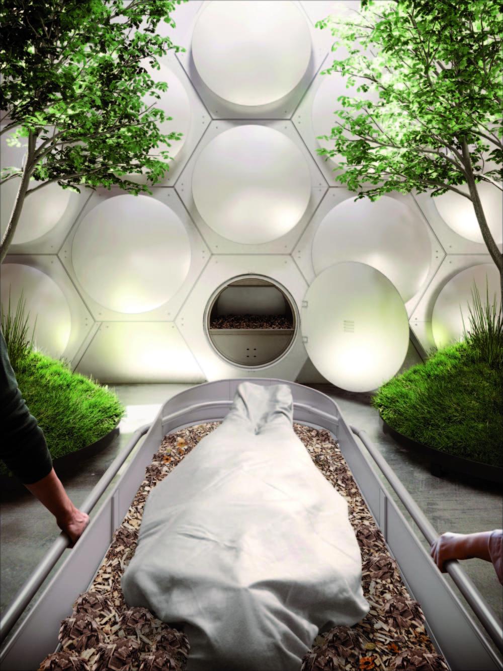シアトルで始まる、人間の死体を堆肥化する施設