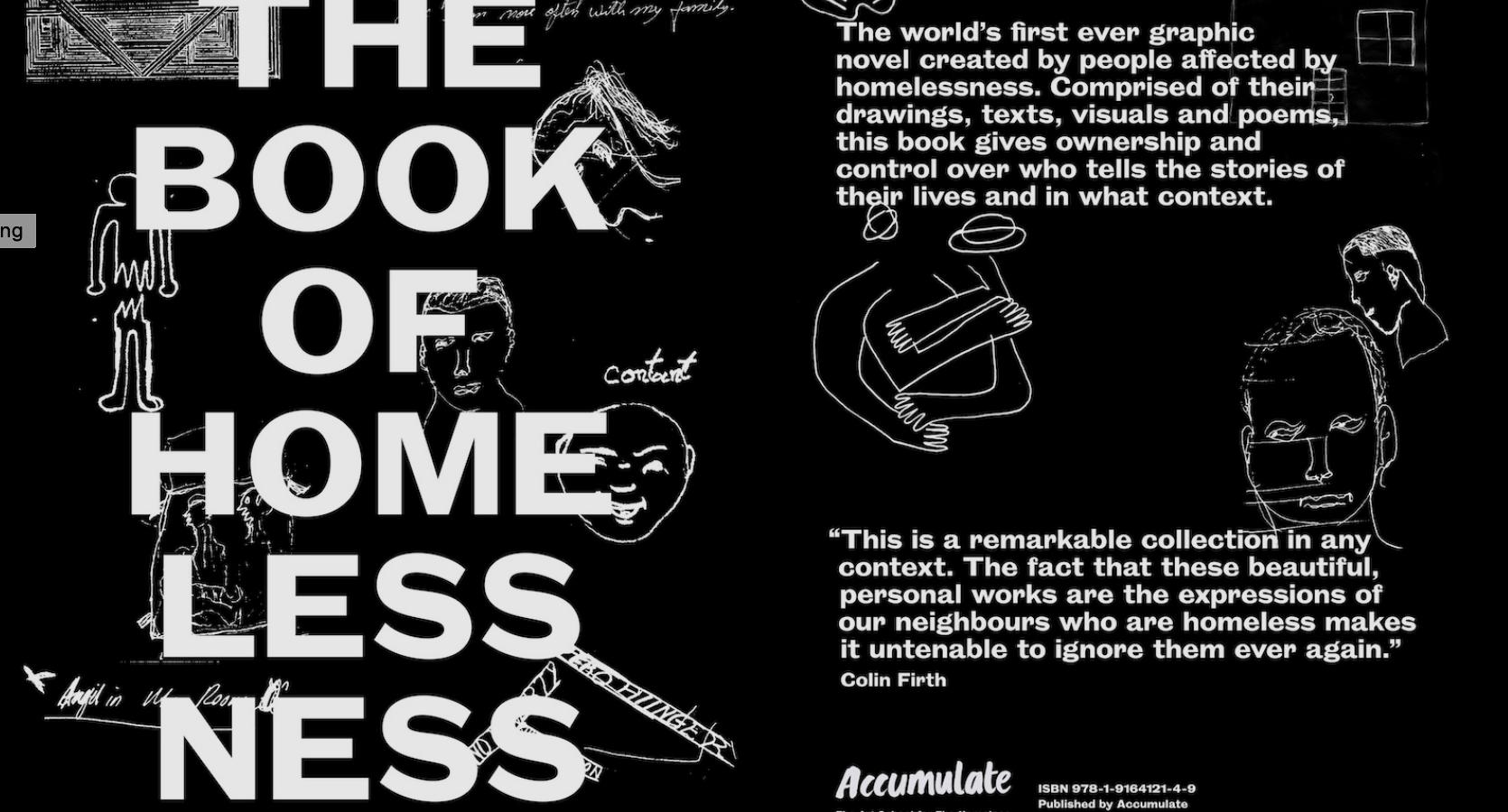 ホームレスがアーティストに。英アートスクールが出版する「The Book of Homelessness」