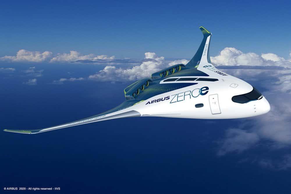 水素を燃料とする、エアバスのゼロエミッション航空機