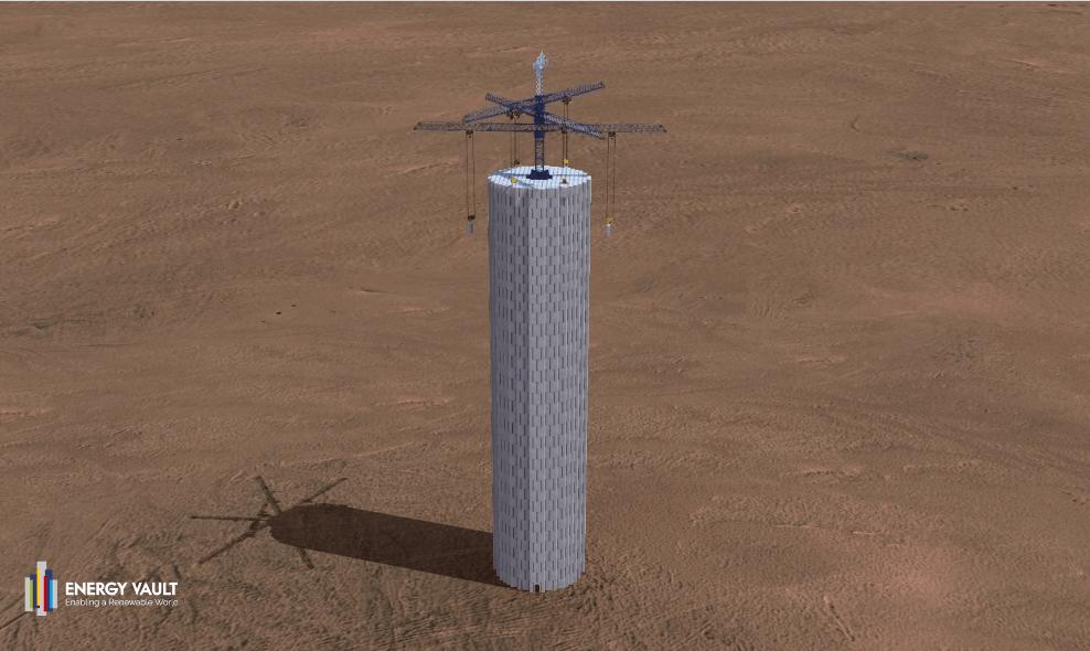 再生可能エネルギーを貯蔵する「コンクリートタワー」