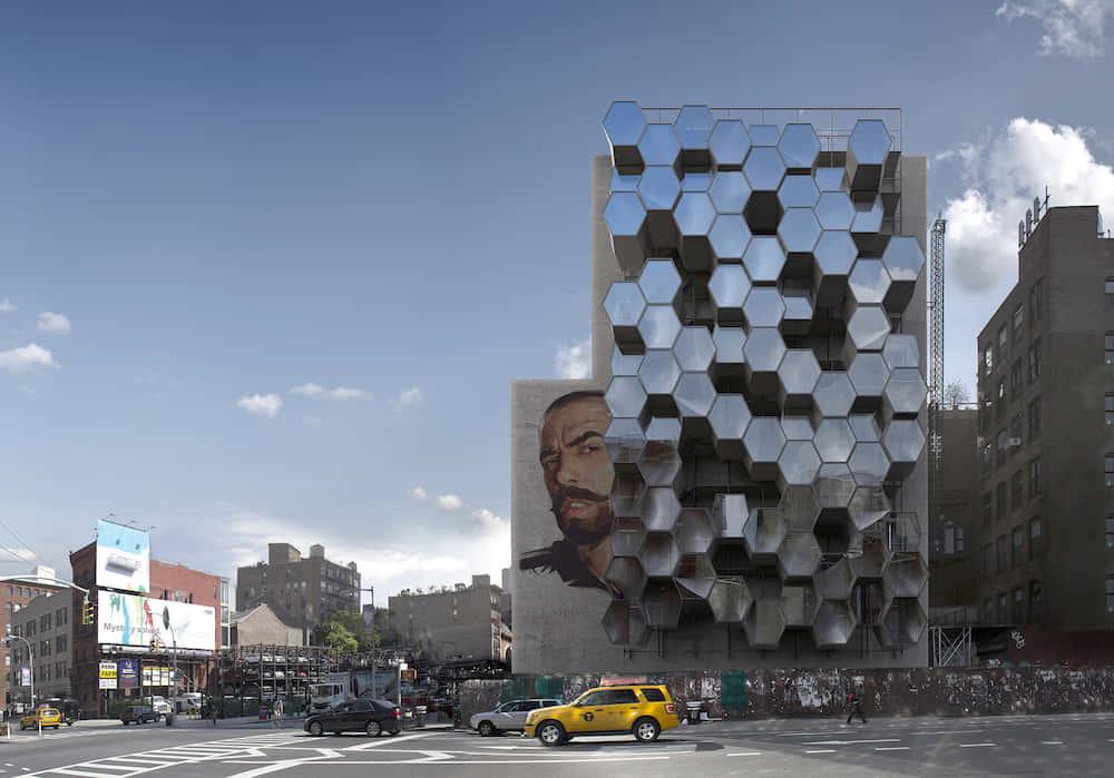 ノルウェーの建築家が考えた、蜂の巣状のホームレスシェルター「Homed」