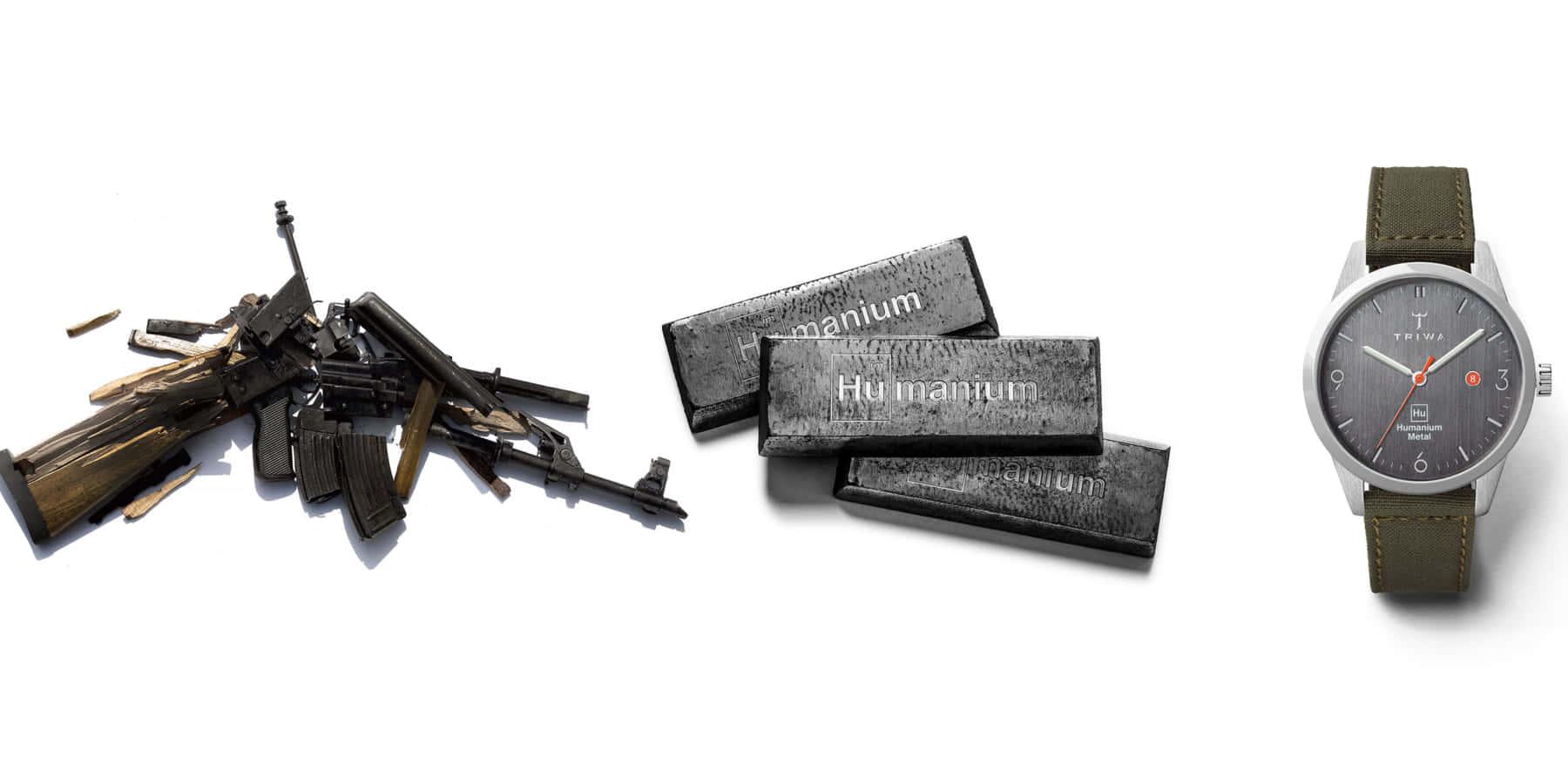スウェーデン「TRIWA」の違法銃を溶かしてつくった腕時計