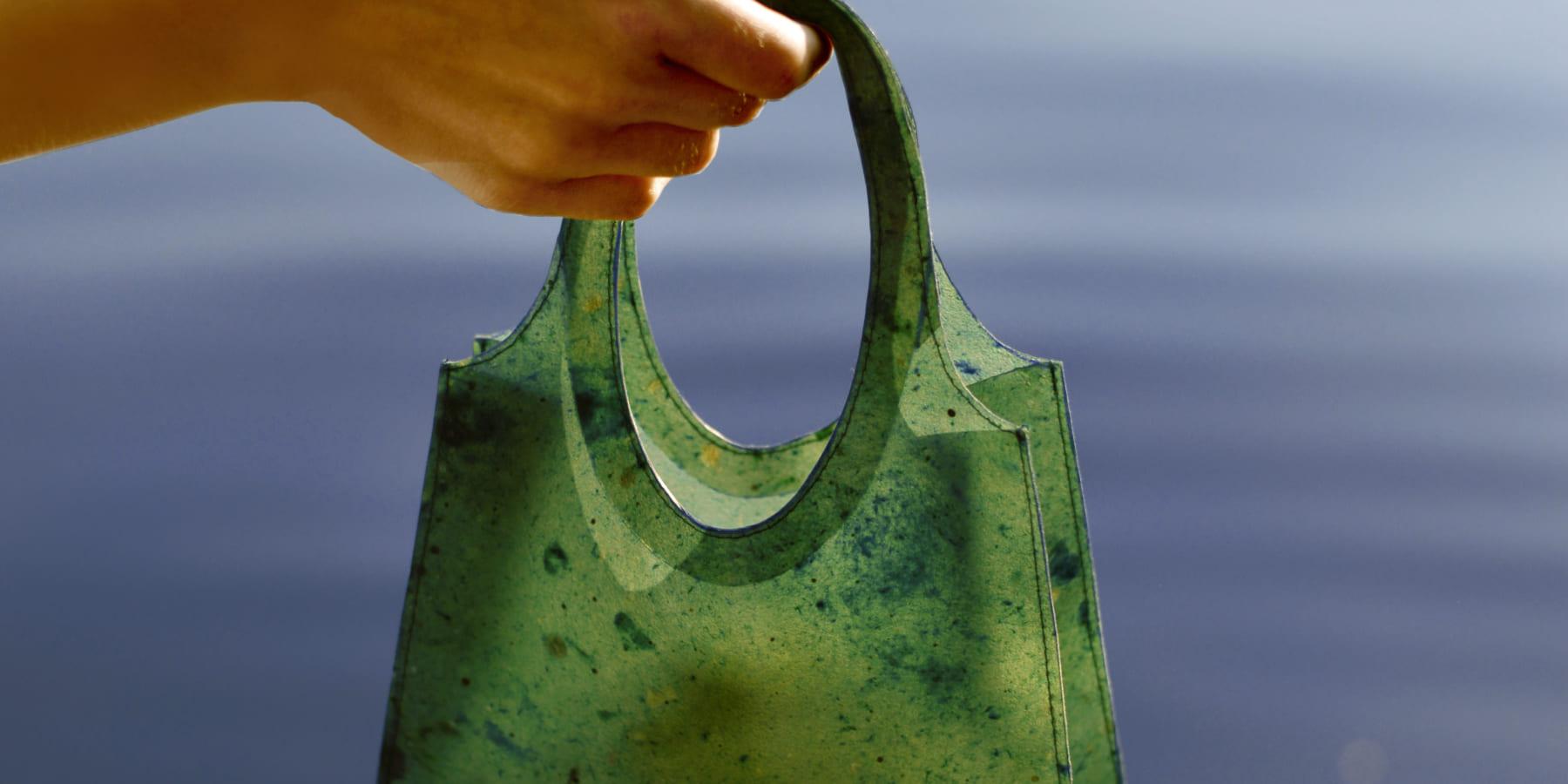 余った果物の皮でできた生分解可能なバッグ「Sonnet155」