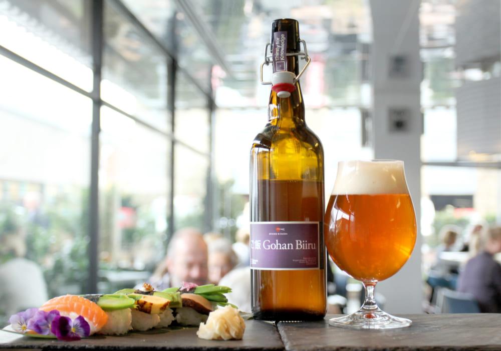 寿司用の余剰米をリサイクルしたビール「Gohan Biiru」