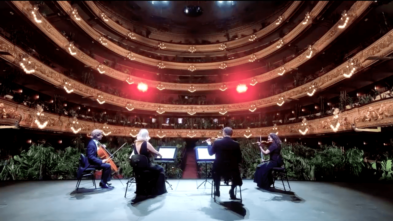 観客は観葉植物。新型コロナ禍でバルセロナのオペラハウスが異例の再開