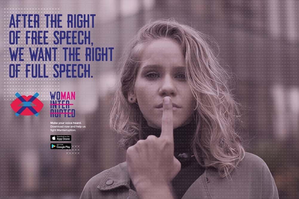 ジェンダー格差をなくす。発言する女性を応援するアプリ「Woman Interrupted」