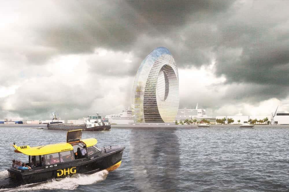 オランダのシンボル「風車」を商業ビルで実現する「Windwheel」