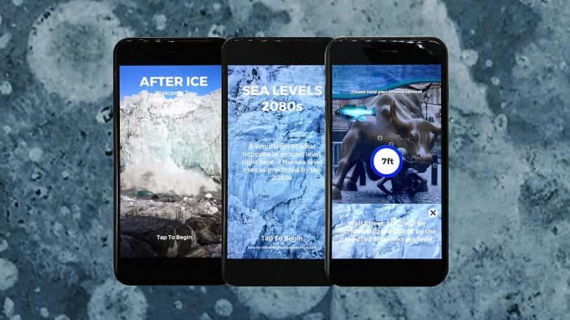 NYのアーティストが考えた、温暖化を可視化するARアプリ「After Ice」