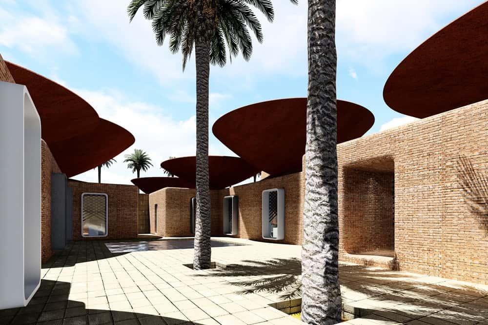 乾燥地域の強い味方。イランのデザイン会社が考えた、雨を集める凹状屋根