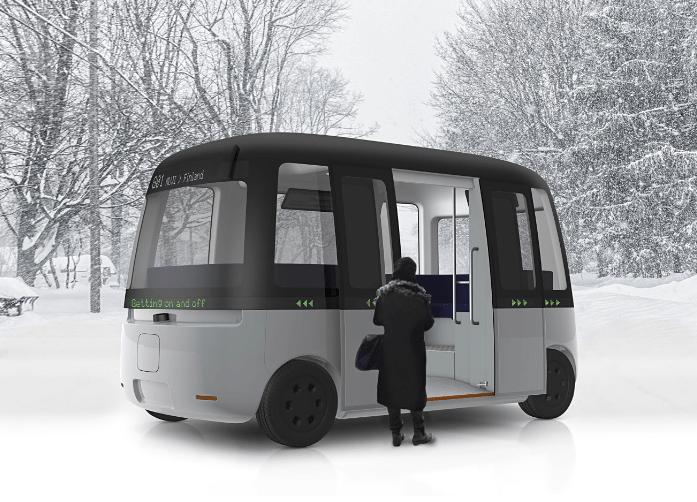 良品計画、フィンランドの雪に強い公共自動運転バスをデザイン