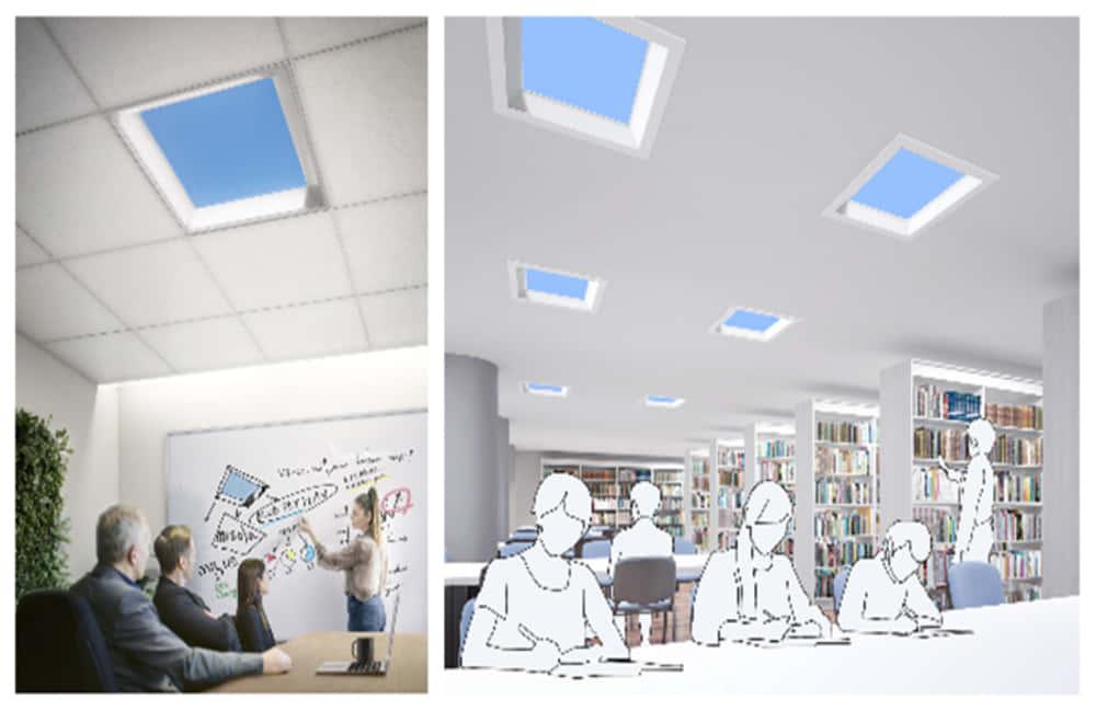 オフィスや病院で青空を楽しもう。三菱電気の照明器具「misola(みそら)」