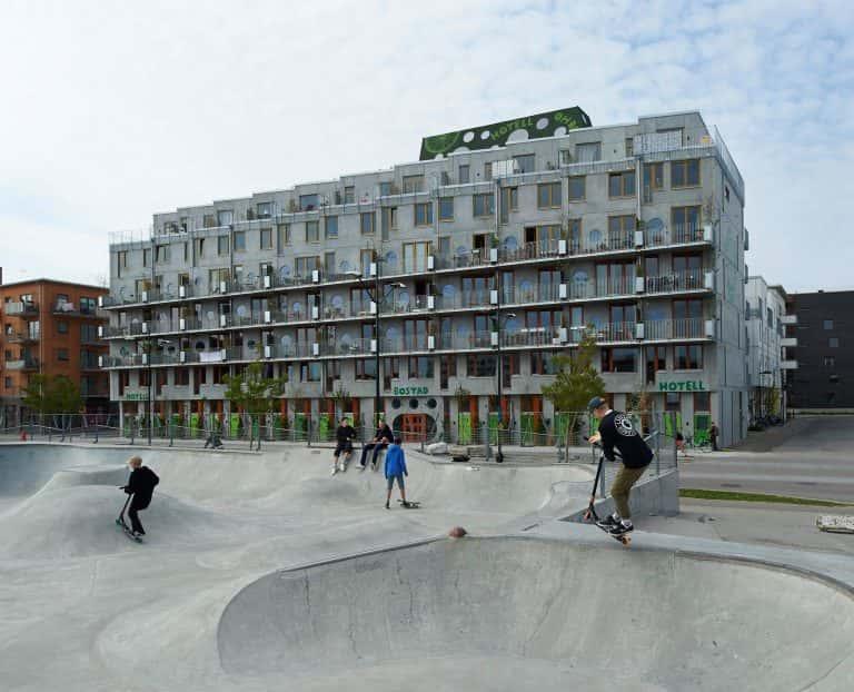 スウェーデンにある、サイクリストのためのアパートホテル「Ohboy Hotel」