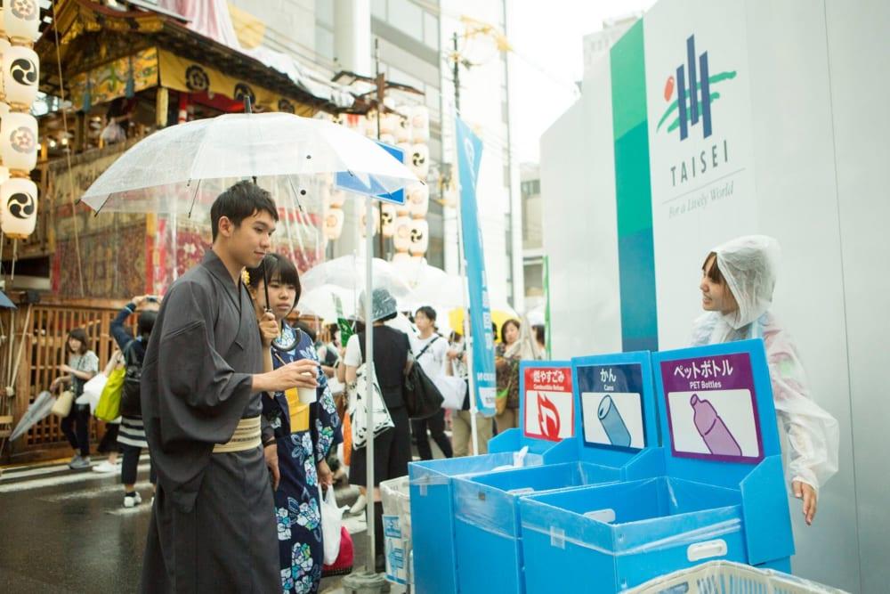 日本三大祭の一つにリユース食器を導入する「祇園祭ごみゼロ大作戦」