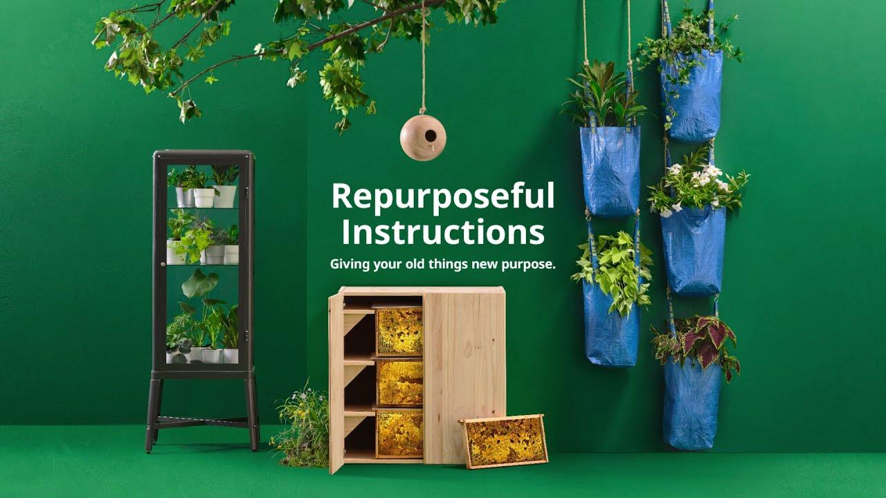 古い家具を動植や植物の住処にかえる、IKEAのアップサイクル説明書