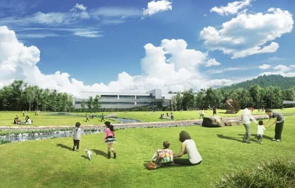 サントリーが長野県大町市に建設中の「CO2排出ゼロ工場」