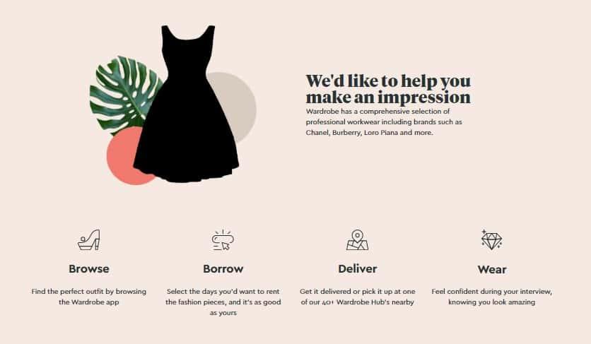 求職者にWEB面接用の洋服を無料で貸し出すキャンペーン