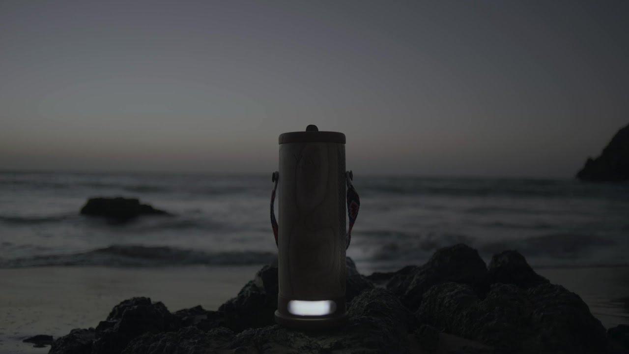 海水で充電できるランタン「WaterLight」